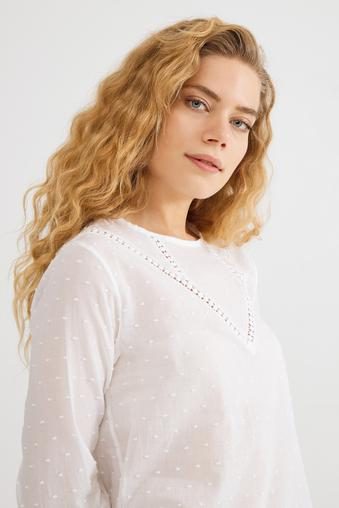Bej Uzun Kol Gömlek