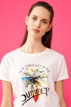 Yandan Bağlamalı T-Shirt