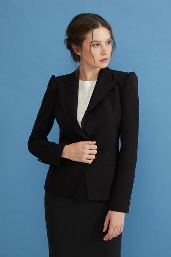 Siyah Uzun Kollu Ceket
