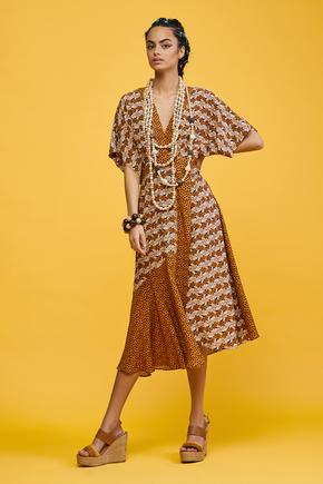 Camel Garni Detaylı Elbise