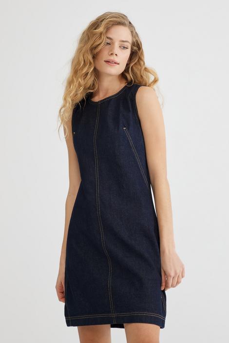 Lacivert Kolsuz Jean Elbise