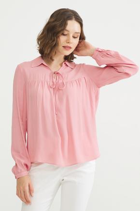 Pembe Büzgülü Bluz