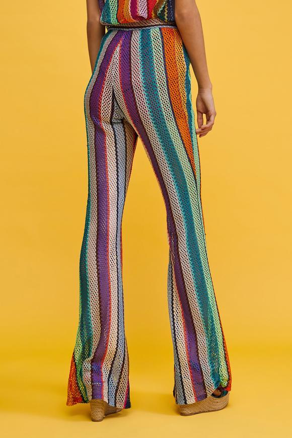 Renkli İspanyol Paça  Pantolon