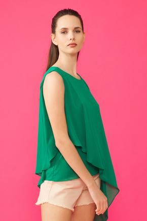 Yeşil Volanlı Bluz