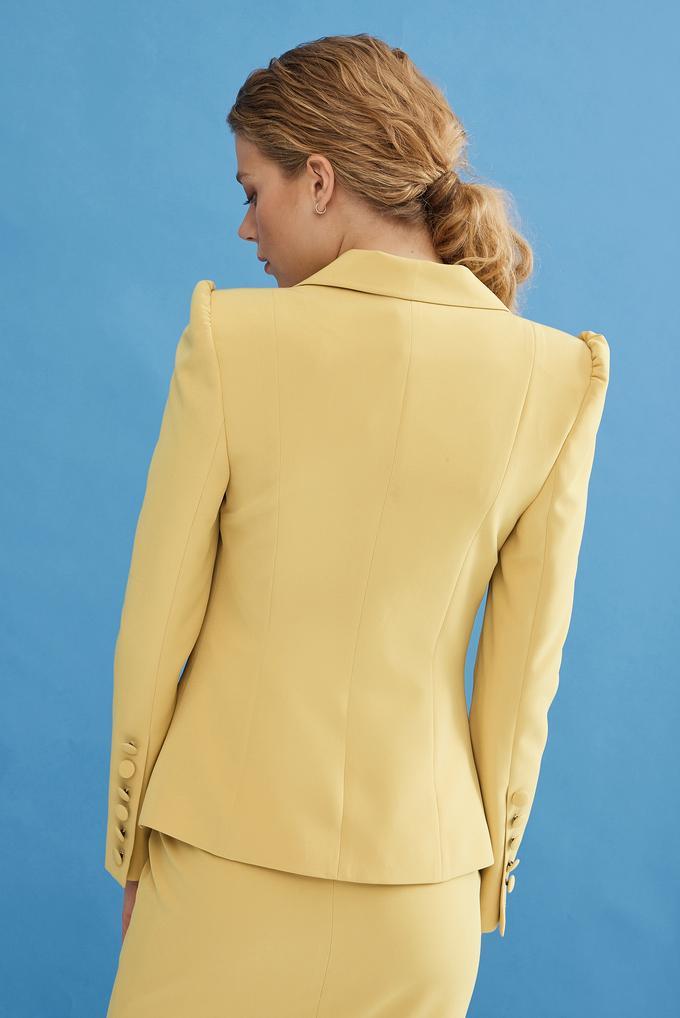 Sarı Uzun Kollu Ceket