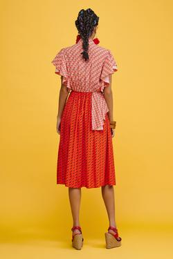 Pili Detaylı Elbise
