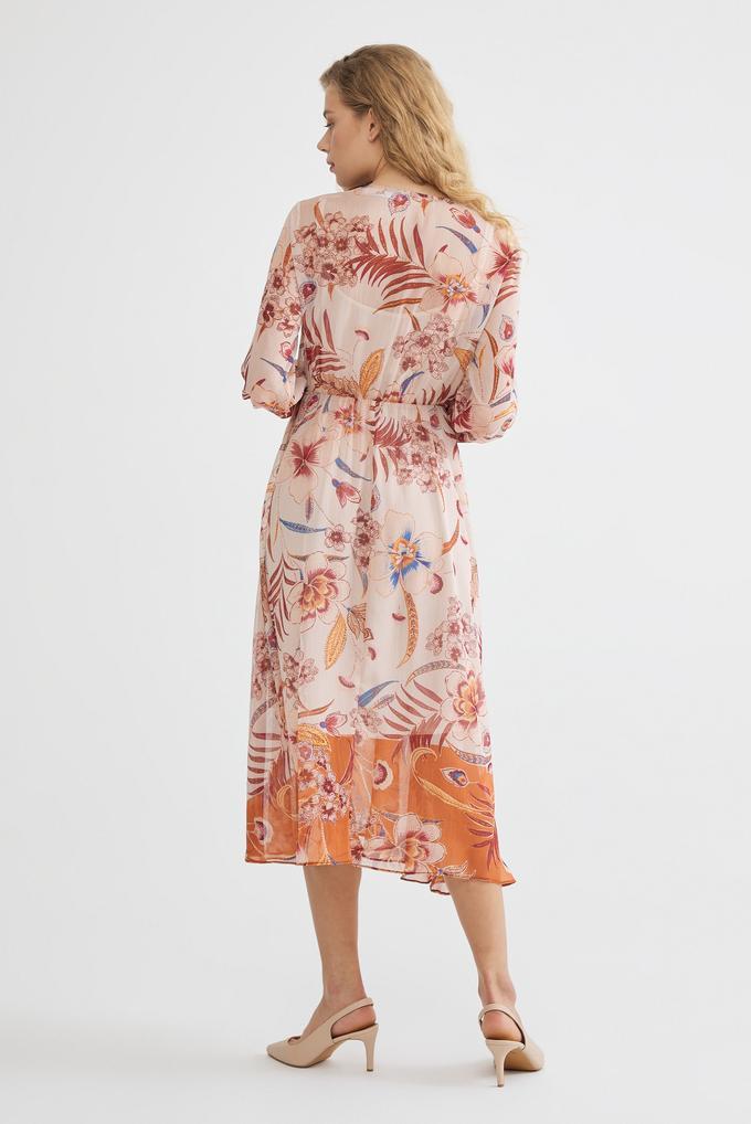 Turuncu Uzun Kollu Elbise