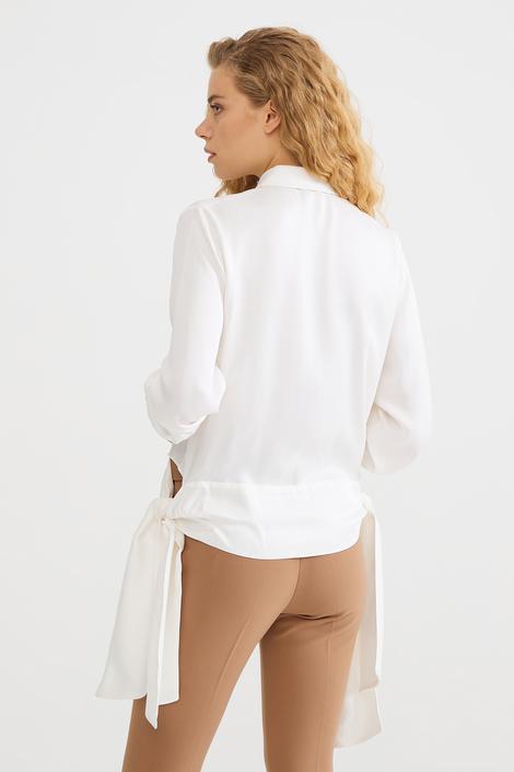 Bej Yanları Uzun Bluz