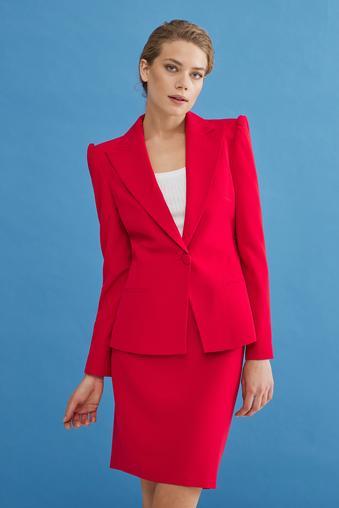 Kırmızı Uzun Kollu Ceket