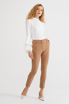 Kahverengi Kemerli Pantolon