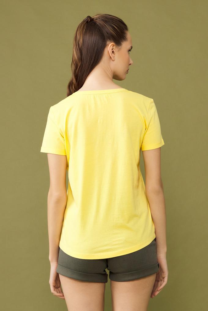 Sarı V Yakalı Tişört