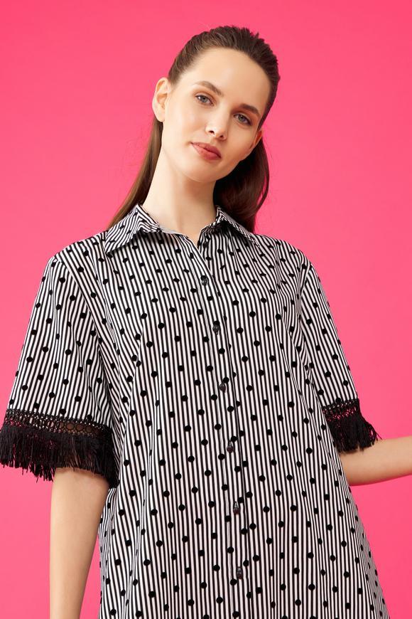 Siyah Gömlek Elbise