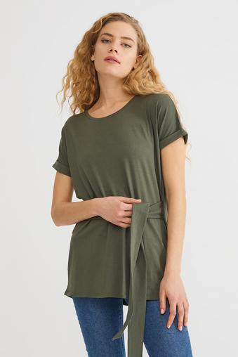 Yeşil Bağcıklı Bluz