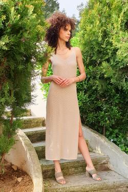Askılı Triko Elbise
