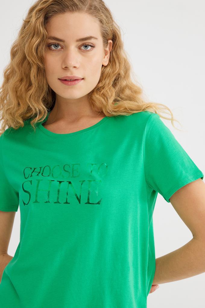 Yeşil Baskılı Tişört