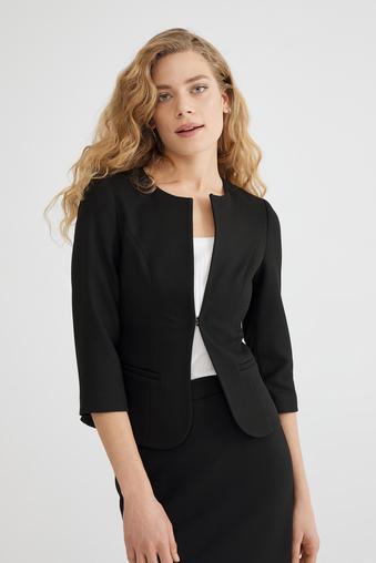 Siyah Agraflı  Ceket