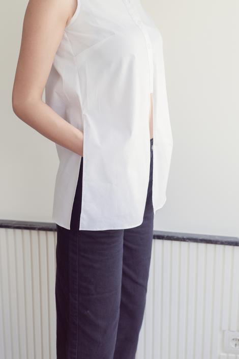 Siyah Bol Paça Pantolon