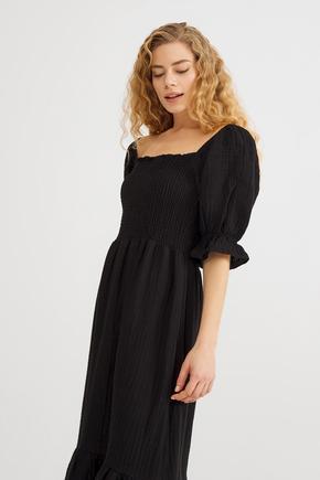 Siyah Lastikli Elbise