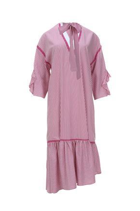 Fusya Kolları Volanlı Elbise