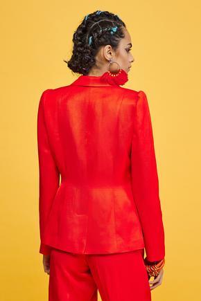 Kırmızı Erkek Yaka Ceket