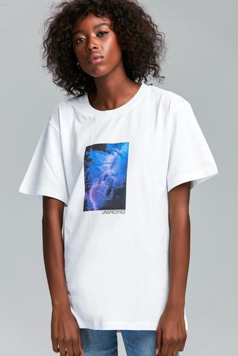 Beyaz Printed T-Shirt