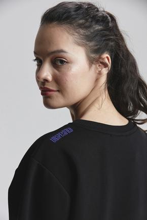 Siyah Printed Sweatshirt