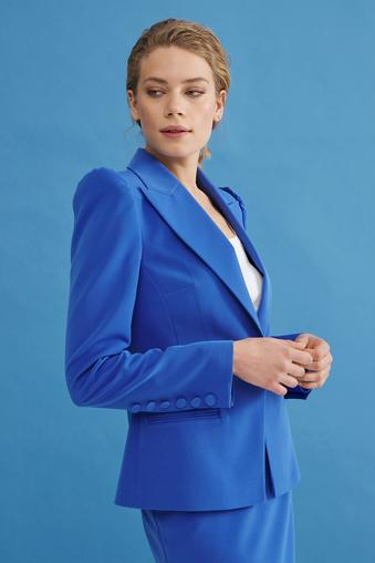 Mavi Uzun Kollu Ceket