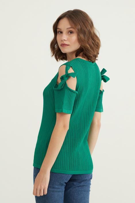 Yeşil Ajurlu Triko