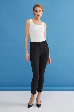 Siyah Cepli Pantolon