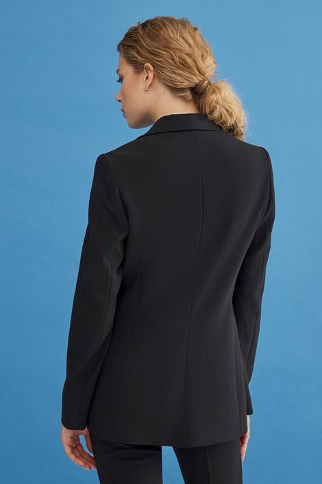 Siyah Kruvaze Ceket