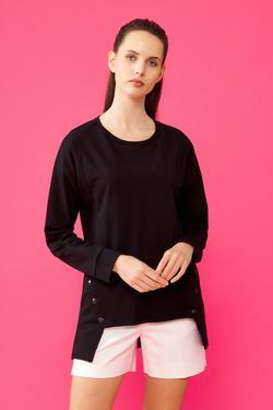 Yanları Çıtçıtlı Sweatshirt