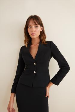 Şık Düğmeli Blazer Ceket