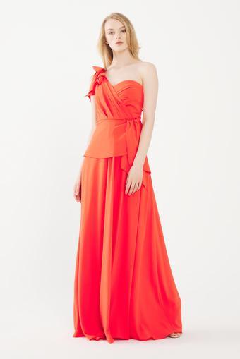 Kırmızı Yırtmaçlı Elbise