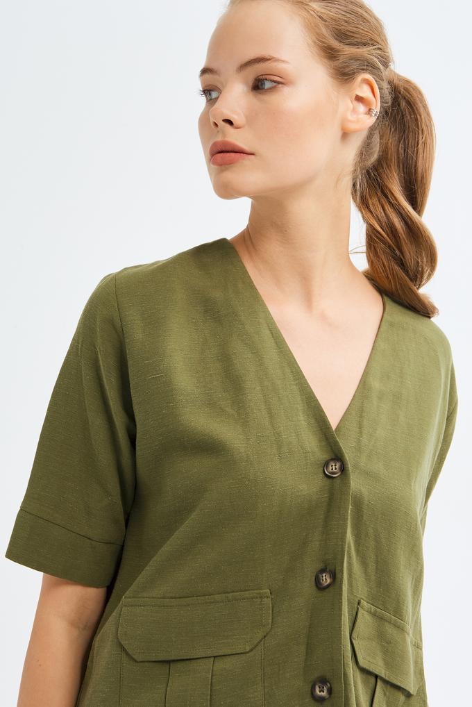 Yeşil Kısa Kollu Gömlek