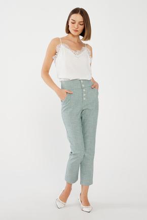 Yeşil Önü Düğmeli Pantolon