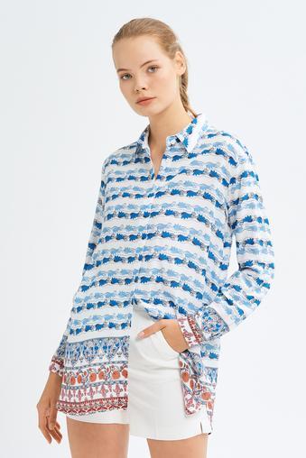 Mavi Uzun Kollu Gömlek