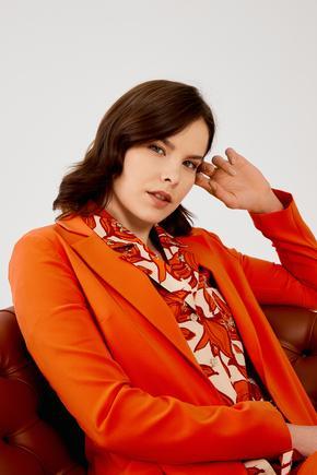 Kırmızı Fileto Cepli Ceket