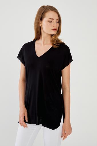 Siyah Kısa Kol Bluz