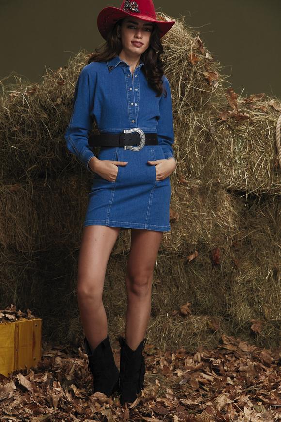 Mavi Jean Elbise