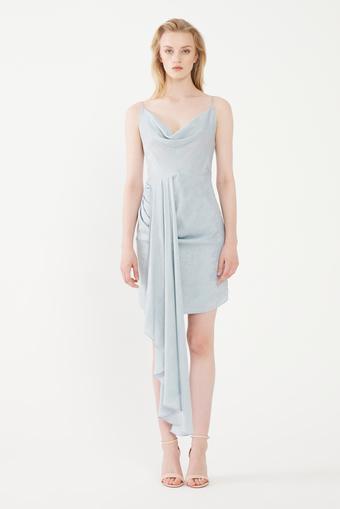 Mavi Degaje Mini Elbise
