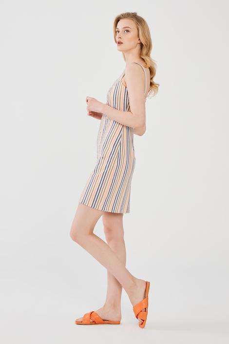Turuncu Askılı Elbise