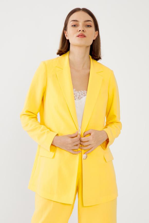 Sarı Erkek Yaka Ceket