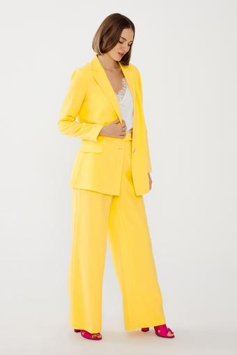Sarı Beli Lastikli Pantolon