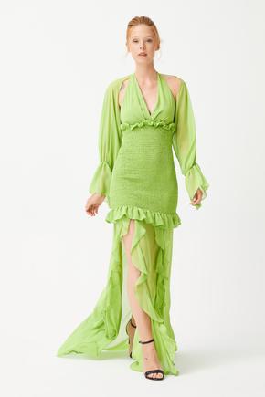 Gipe Detaylı Elbise