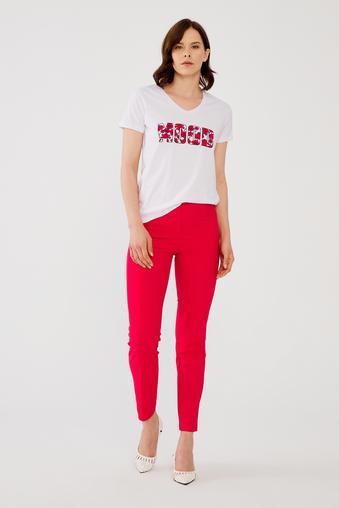 Kırmızı Boru Paça Pantolon