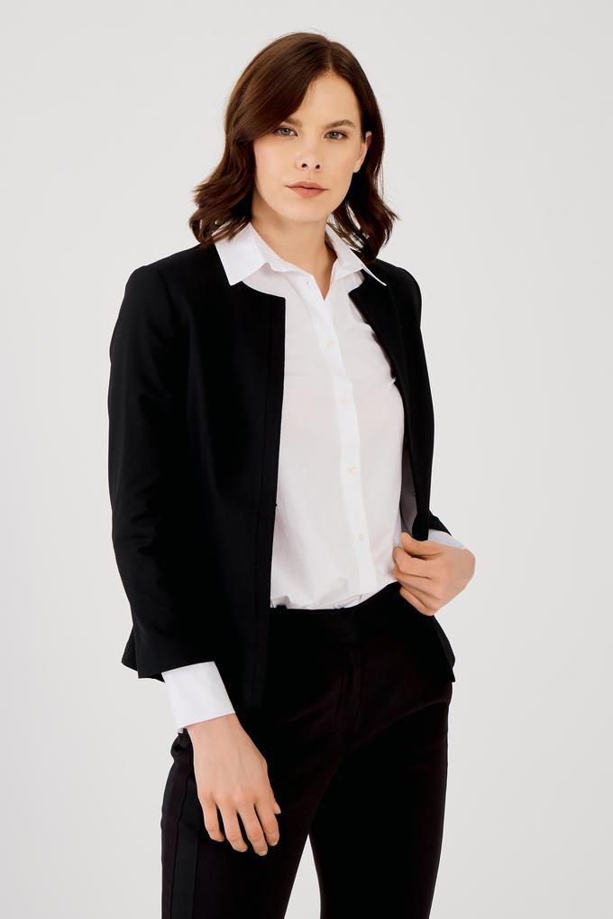 Siyah Grogrenli Ceket