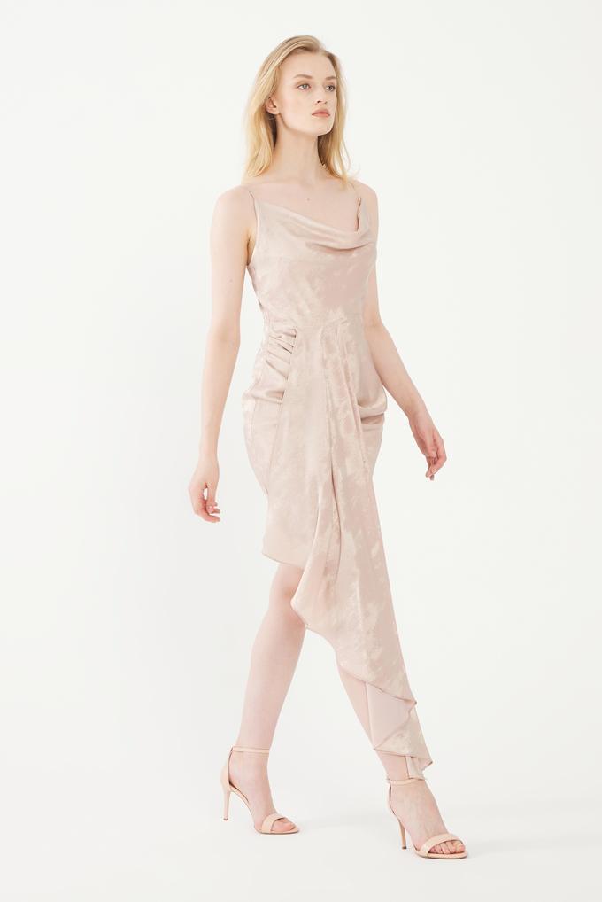 Pembe Degaje Mini Elbise