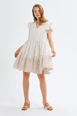 Kolları Fırfırlı Elbise