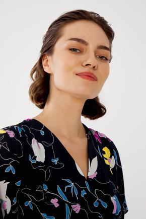 Lacivert Robalı Elbise