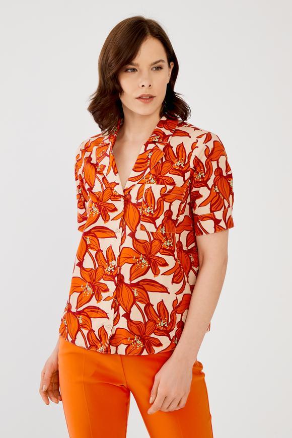 Turuncu Cepli Gömlek